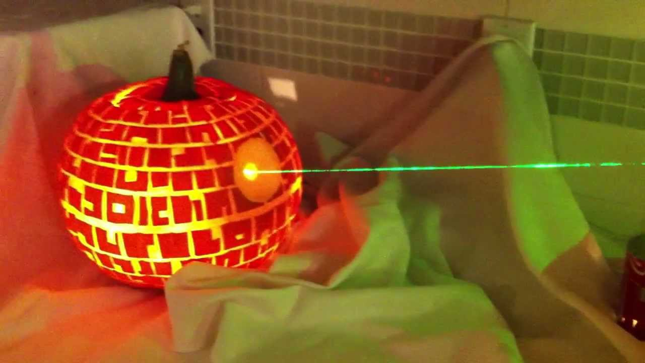 Death star pumpkin obliterating another youtube
