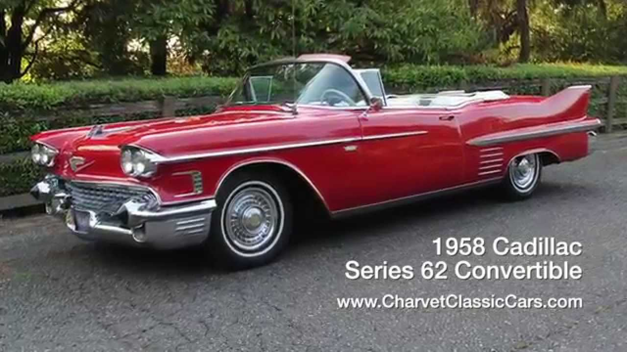 1958 cadillac 62 convertible www charvetclassiccars com youtube. Black Bedroom Furniture Sets. Home Design Ideas