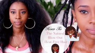 Blow Drying without HEAT! NO BREAKAGE & DRY ENDS 🔥❌💆🏾|  African Threading🌍
