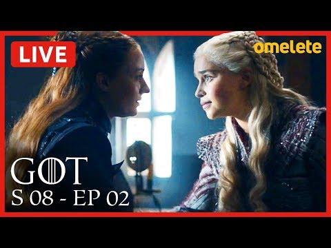 GAME OF THRONES S08E02 COMENTADO | Live