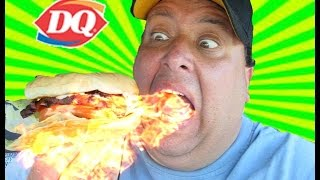 Dairy Queen® Flamethrower Cheeseburger Review!
