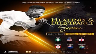 HEALING AND DELIVERANCE SERVICE [NSPPD] - 16th September 2021