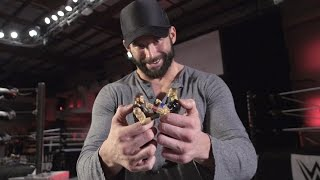 Zack Ryder unboxes Mattel's new WWE Tough Talkers action figures and ring