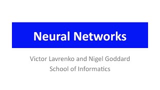 Neural Networks 1: a 3-minute history