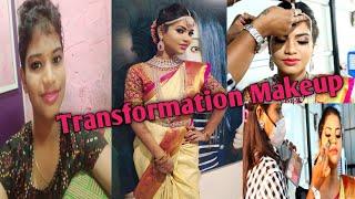 TRANSFORMATION MAKEUP  for a Transgender by Positivity 8.. BRIDAL MAKEUP VLOG IN TAMIL