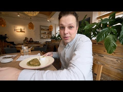"Vegetarian And Raw Food Cafe ""Ukrop"". St Petersburg, Russia"