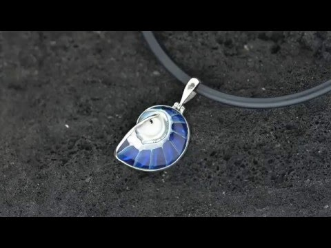 Bali Silver Jewelry Wholesale Pendant Featuring Black Shells