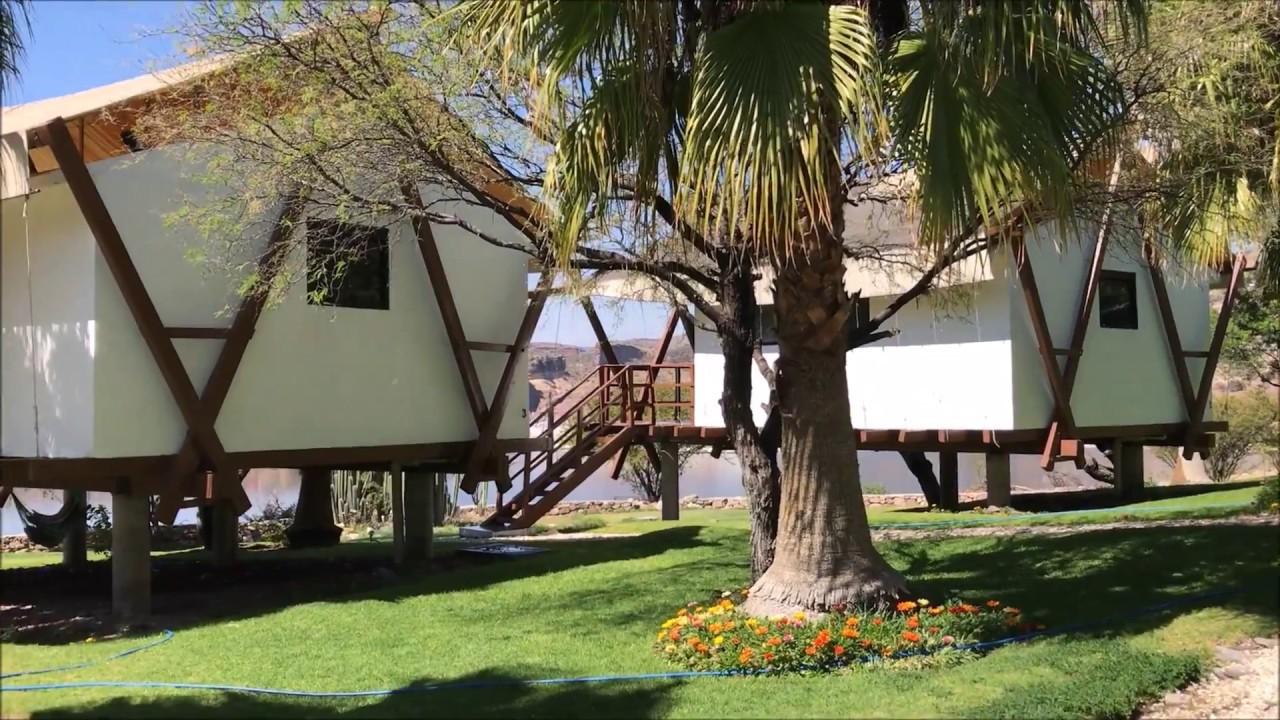 Vista de las cabañas ubicadas dentro de la isla de Tzibanzá