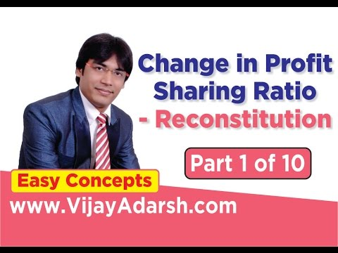 Change in Profit Sharing Ratio - Reconstitution – 1 of 10 | Stay Learning |CBSE (HINDI | हिंदी)