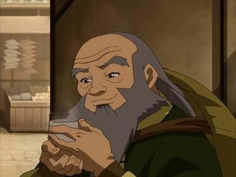 Iroh drinks hot tea