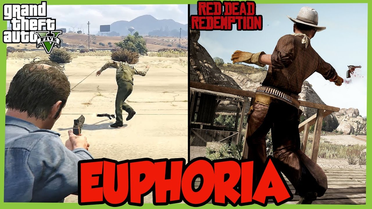 GTA 5 Vs RDR Euphoria Ragdoll Physics Comparison Gameplay