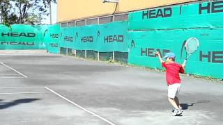 tennis 8 years old anos