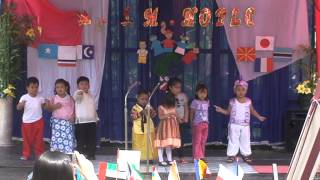 jed with his classmates special number(united nation and foundation day)