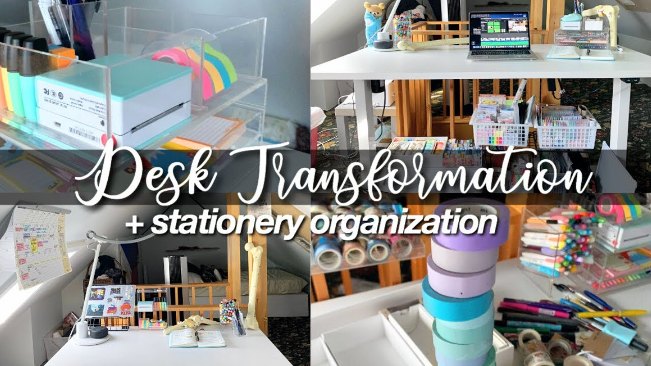 desk transformation & stationery organization