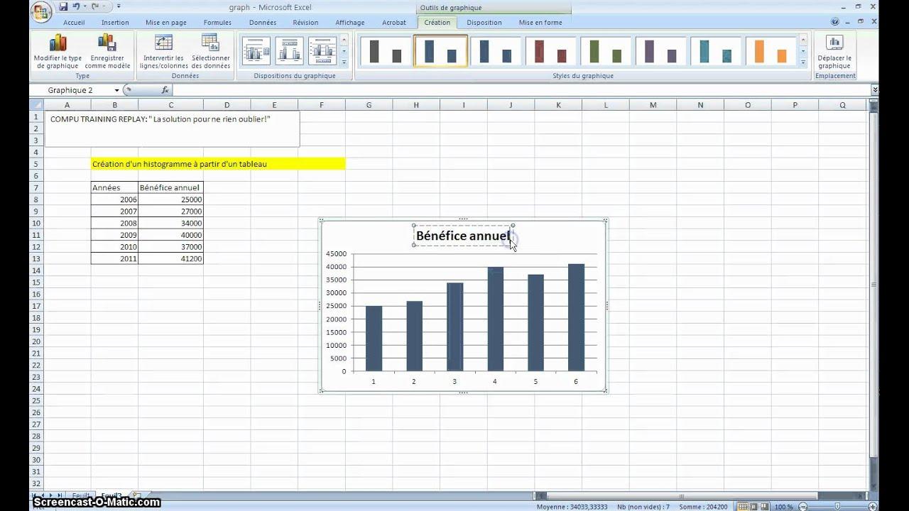 Super Excel création d'un histogramme - YouTube HO-23