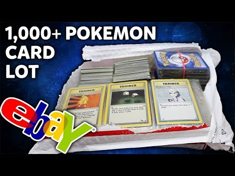 1,000+ Pokemon Card Lot from Ebay