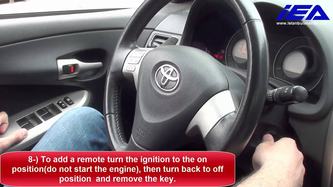 On Board Remote Programming Procedure For Toyota Corolla Auris Yaris Hilux Youtube