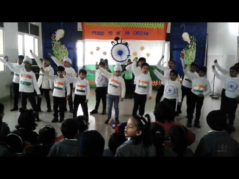 patriotic melody song performed of  grade 1 class. Republic day 2017, choreograph by Gourav