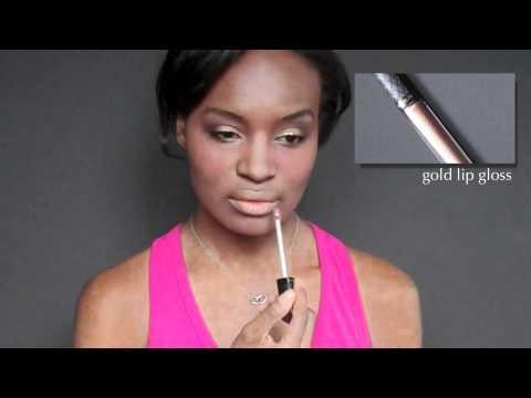 """makeup tutorial: golden goddess   ft: elf """"never too much"""" palette"""