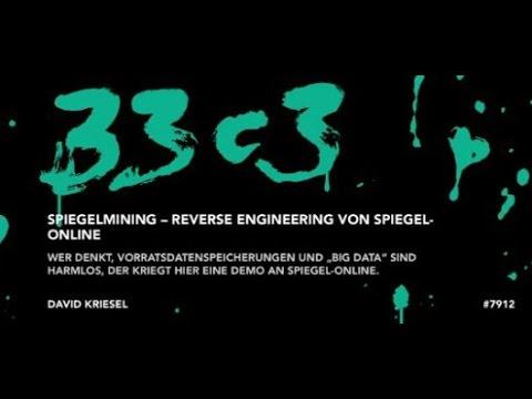 SpiegelMining   Reverse Engineering von Spiegel Online (HD)