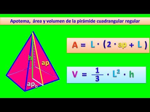 Apotema área Y Volumen De La Pirámide Cuadrangular Youtube