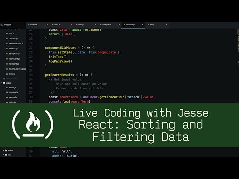 React: Sorting and Filtering Data - Live Coding with Jesse