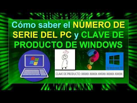 Cómo Saber El NÚMERO DE SERIE Del PC Y La CLAVE DE WINDOWS