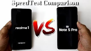 Realme 1 Vs Redmi Note 5 Pro SpeedTest Comparison I Hindi