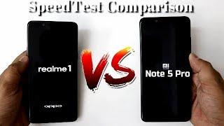 Realme 1 Vs Redmi Note 5 Pro SpeedTest Comparison I Hindi