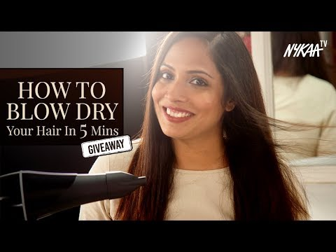 How To Blowdry Your Hair In 5 Mins + GIVEAWAY (Closed) | Shruti Anand