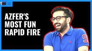 Azfer Rehman's Most Funny Rapid Fire | One Take