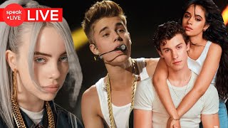 LIVE: Justin Bieber con Billie Eilish,Shawn Mendes y Camila Cabello, Problemas de ArianaGrande y más