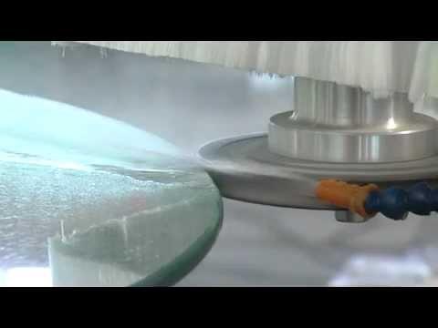 Deway Dym1 Glass Shape Edging Bevelling Machine Youtube