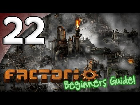 Factorio Beginner's Guide - 22. Preparing for Robots - Let's Play Factorio Gameplay