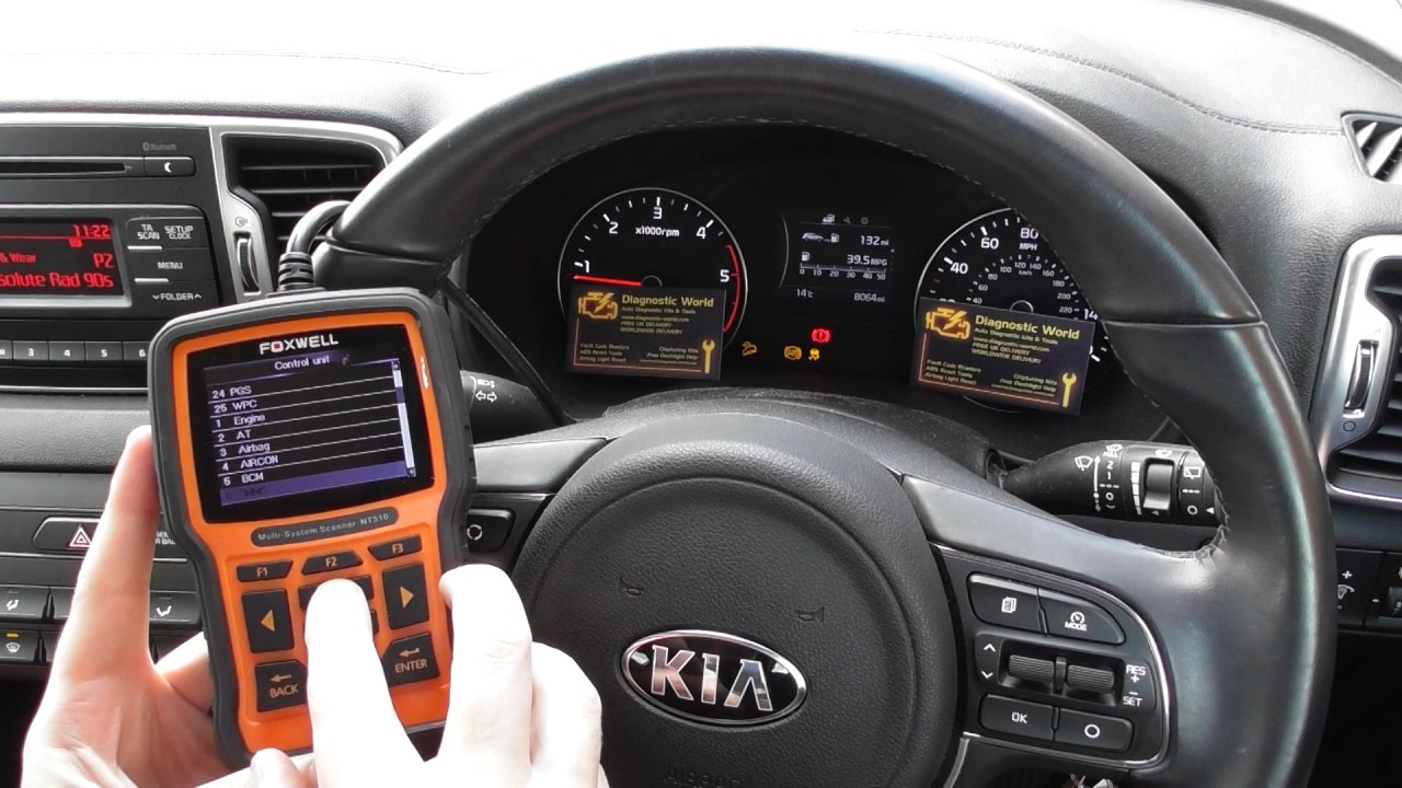 kia abs traction warning light diagnose reset nt510 [ 1280 x 720 Pixel ]