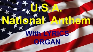 U.S.A. NATIONAL ANTHEM with WORDS  - ORGAN