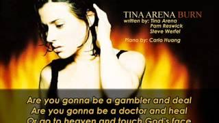 Tina Arena   Burn Piano and Lyrics