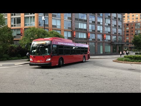 Roosevelt Island Operating Corporation Red Bus Loop Action (HD 60fps) 5/26/17