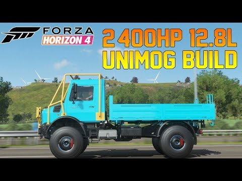 Forza Horizon 4 - Unimog With Crazy 2,400HP 12.8L Engine Build!