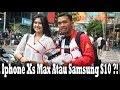 Give Away Iphone Xs Max Dan Samsung S10 Dijalan !! Sosial Experiment !!