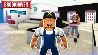 Abbaok arbeitet im Supermarkt in Brookhaven! Story Roblox Deutsch