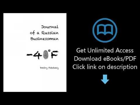 Download Journal of a Russian Businessman [P.D.F]