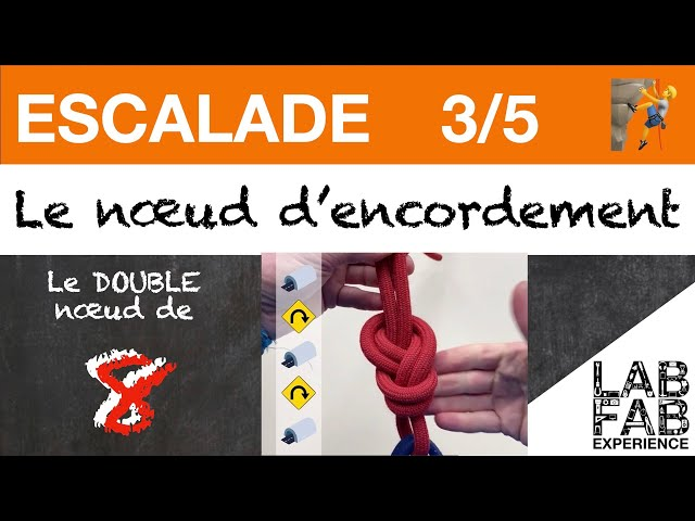 Escalade - Le noeud d'encordement - Partie 3/5 - Comment faire un double noeud de 8?