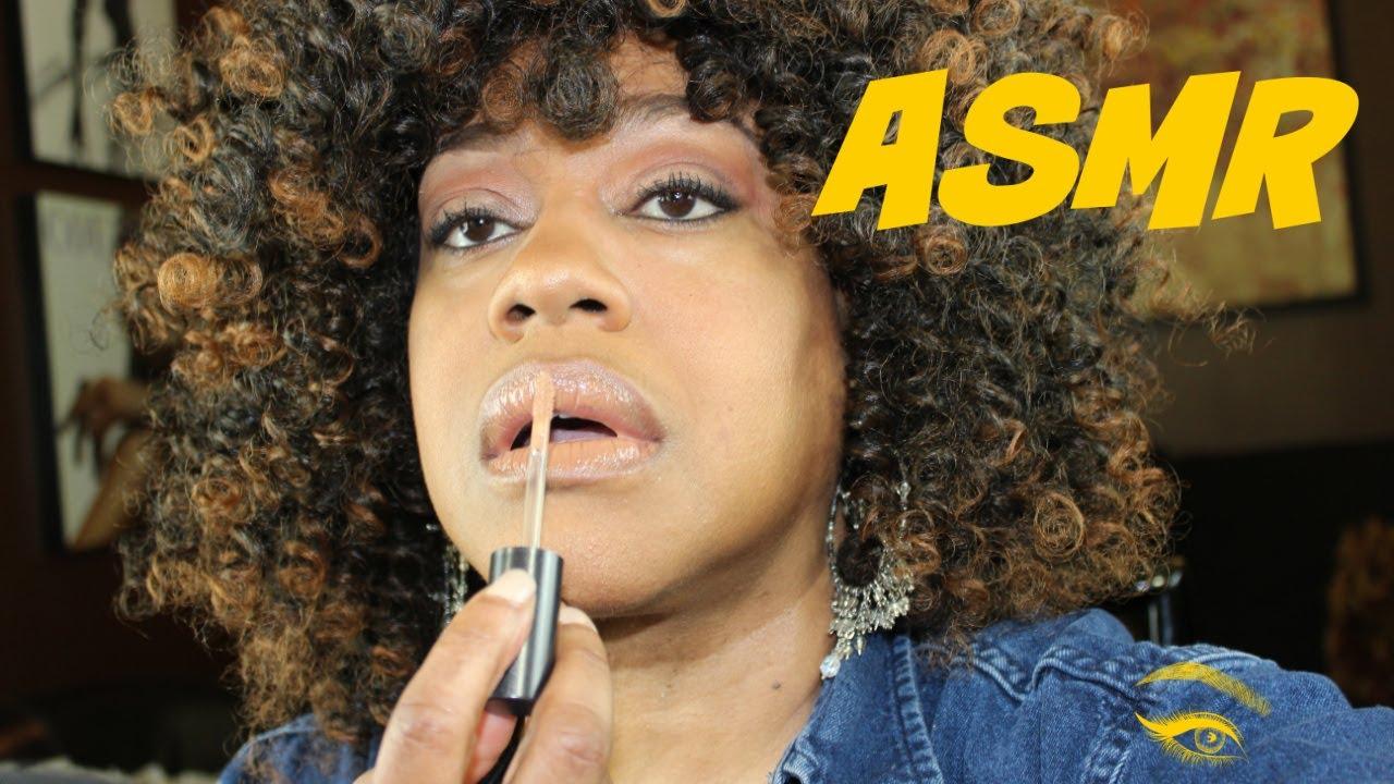 ASMR Makeup Application No Talking 💄💋 Gum Chewing Tapping Lip Gloss Application