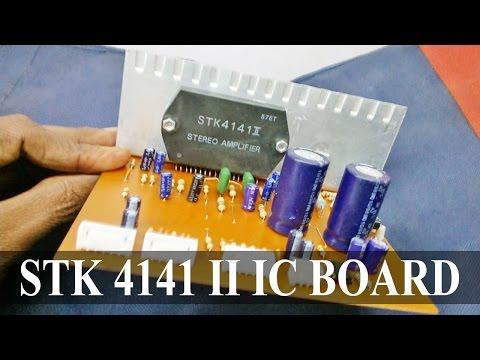 STK 4141 II IC with Bass Treble 4558 IC Circuit Board | Electro India