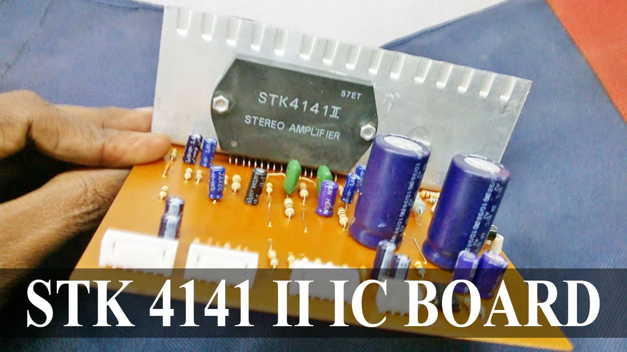 Stk 4141 Ii Ic With Bass Treble 4558 Circuit Board Electro Amp Wiring Diagram India Youtube