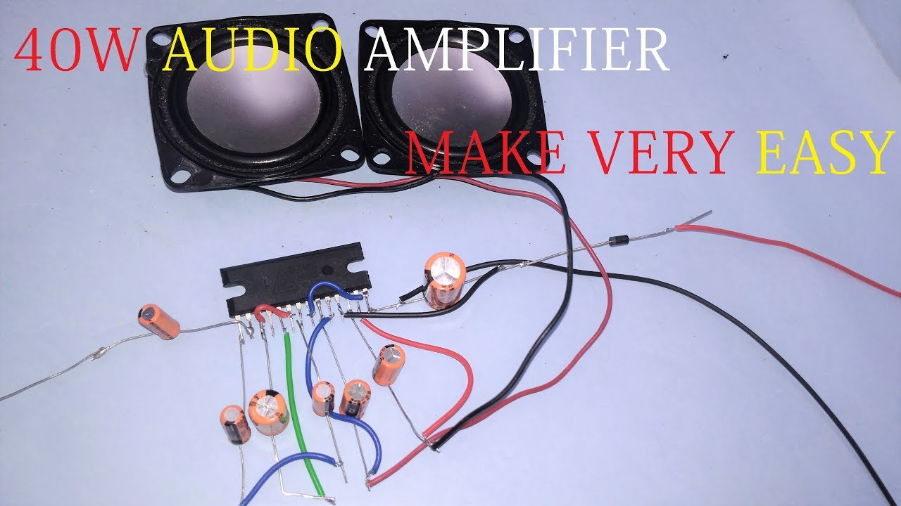 40w audio amplifier step by step make very easy youtube rh youtube com 40w 12v audio amplifier circuit 40w audio amplifier circuit with tda2030