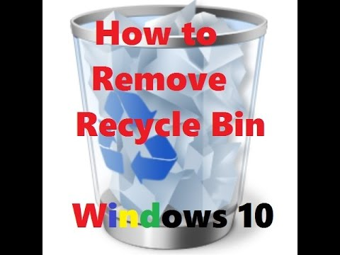 windows 10 how to delete recycle bin