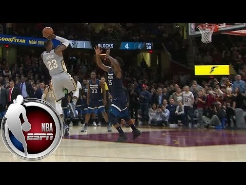 LeBron James wins game with ridiculous block- and buzzer-beater combo vs. Timberwolves | ESPN