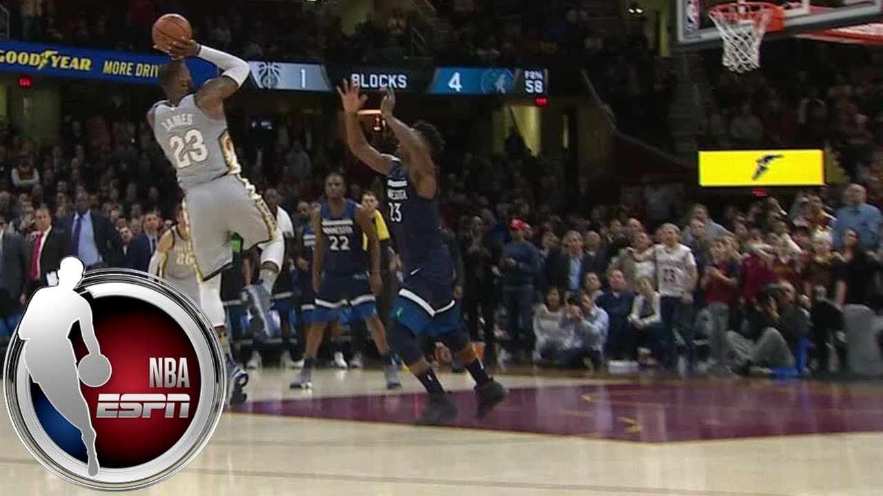 efbd11ddf02f LeBron James wins game with ridiculous block- and buzzer-beater combo vs.  Timberwolves
